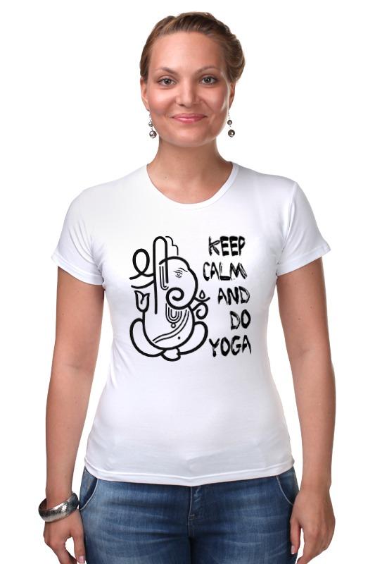 Футболка Стрэйч Printio Keep calm & do yoga футболка wearcraft premium printio keep calm and do yoga