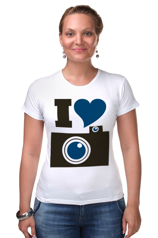 Футболка Стрэйч Printio Я люблю фото (селфи) футболка стрэйч printio я люблю этот мир