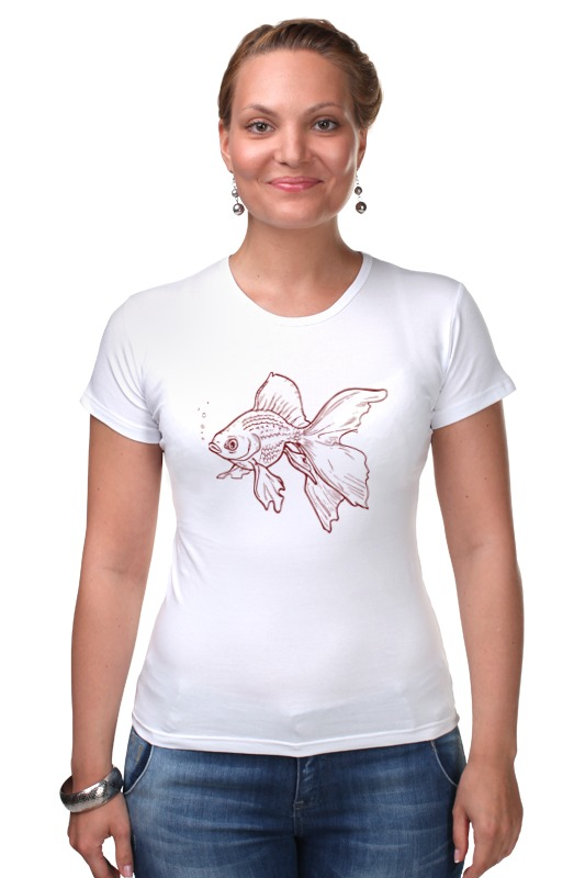 Футболка Стрэйч Printio Золотая рыбка мозаика по номерам золотая рыбка