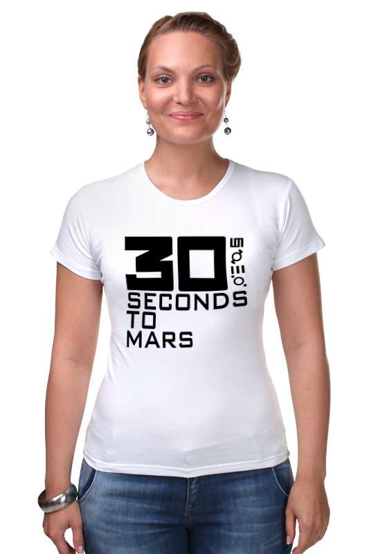 Футболка Стрэйч Printio 30 seconds to mars mission to mars
