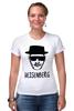 "Футболка Стрэйч (Женская) ""Heisenberg"" - во все тяжкие, драма, breaking bad, гейзенберг, walter white"