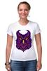 """Футболка Стрэйч (Женская) """"Ночная Сова (Owl)"""" - сова, owl"""