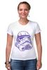 """Футболка Стрэйч """"Штурмовик """" - космос, star wars, шлем, stormtrooper, десант, штурмовик, стар варс, звёздные воины, воины, штурмовики"""