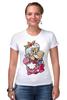 "Футболка Стрэйч ""Mario (Princess Peach)"" - платье, марио, mario bros, принцесса пич"