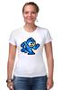 """Футболка Стрэйч (Женская) """"Mega Man (8-bit)"""" - 8 bit, capcom, mega man"""