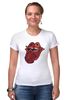 "Футболка Стрэйч ""Rolling Stones' 50th Anniversary "" - любовь, rock, логотип, язык, рок-н-ролл, rolling stones, юбилей"