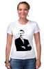 """Футболка Стрэйч (Женская) """"Обама"""" - обама, сша, президент, obama"""