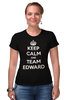 "Футболка Стрэйч (Женская) ""Edward Snowden"" - америка, россия, keep calm, edward snowden, эдвард сноуден"