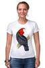 """Футболка Стрэйч (Женская) """"Попугайчик"""" - арт, дизайн, птицы, природа, попугай"""