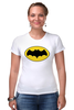 """Футболка Стрэйч (Женская) """"бэтмен"""" - batman, бэтмен, dc, dc комиксы"""