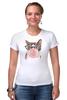 "Футболка Стрэйч (Женская) ""Забавная кошка"" - модно, кошки, casual, bubble gum"