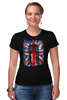 "Футболка Стрэйч (Женская) ""10th флаг UK (Доктор Кто)"" - doctor who, bbc, флаг, uk, доктор кто, тардис"