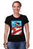 """Футболка Стрэйч """"Чудо-Женщина (Wonder Woman)"""" - чудо-женщина, wonder woman, супергероиня"""
