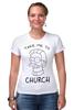 "Футболка Стрэйч (Женская) ""Нед Фландерс (Симпсоны)"" - симпсоны, the simpsons, take me to church, возьми меня в церковь"