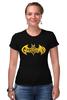 "Футболка Стрэйч (Женская) ""Бэтмен, (Batman)"" - batman, бэтмен"