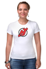 "Футболка Стрэйч (Женская) ""NJ Devils"" - хоккей, спортивная, nhl, нхл, devils, нью джерси, nj"