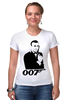 "Футболка Стрэйч (Женская) ""James Bond"" - james bond, агент 007, шон коннери, джеймс бонд, sean connery"