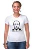 """Футболка Стрэйч """"Самая вежливая футболка"""" - путин, putin, крым, вежливые люди, вежливый"""