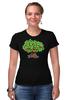 "Футболка Стрэйч ""iCalistini The Love Tree Дерево Любви"" - счастье, дерево счастья, дерево любви"