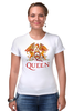 "Футболка Стрэйч (Женская) ""Queen group"" - queen, фредди меркьюри, freddie mercury, куин, rock music"
