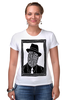 """Футболка Стрэйч (Женская) """"DeadBroke"""" - арт, man, стиль, рисунок, hat, tie, алина макарова"""