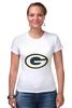 """Футболка Стрэйч (Женская) """"Green Bay Packers"""" - nfl, американский футбол, green bay packers, грин-бей пэкерс"""