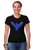"Футболка Стрэйч (Женская) ""Найтвинг (Nightwing)"" - dc comics, найтвинг, nightwing"