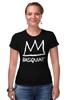 """Футболка Стрэйч (Женская) """"Basquiat"""" - граффити, корона, basquiat, баския, жан-мишель баския"""