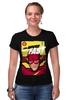 """Футболка Стрэйч (Женская) """"Супергерой Флэш"""" - flash, комиксы, супергерои, молния, флэш"""