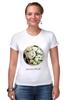 """Футболка Стрэйч (Женская) """"Сумочка для упаковки подарка"""" - любовь, цветы, весна, свадьба, невеста, подарок, молодожены, букет, spring"""