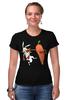 "Футболка Стрэйч ""Нокаут"" - спорт, бокс, кролик, морковь, нокаут"