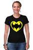 """Футболка Стрэйч (Женская) """"Я люблю Бэтмена"""" - комиксы, batman, супергерои, бэтмен, человек-летучая мышь"""