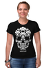 "Футболка Стрэйч ""GAME OVER"" - skull, череп, игры, space invader, захватчик"