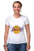 "Футболка Стрэйч (Женская) ""Lakers"" - баскетбол, нба, лейкерс, lakers, los angeles lakers"