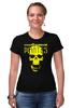 "Футболка Стрэйч (Женская) ""PIRATES.Spirit of freedom !"" - skull, череп, свобода, пират, pirates"