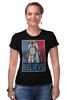 "Футболка Стрэйч (Женская) ""Believe"" - lego, постер, believe, лего"