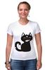 "Футболка Стрэйч ""Котенок-охотник"" - кот, арт, котенок, рисунок, охота"