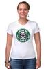 """Футболка Стрэйч (Женская) """"Drink me Coffee (Налей мне Кофе)"""" - кофе, coffee, алиса в стране чудес, alice in wonderland"""
