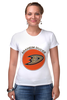"Футболка Стрэйч (Женская) ""Anaheim Ducks"" - спорт, хоккей, nhl, нхл, anaheim ducks"