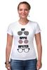 "Футболка Стрэйч ""HipHipiHipster"" - очки, хипстер, hippie, хиппи, hip, hipster"