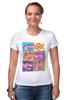 "Футболка Стрэйч (Женская) ""Розовая пантера"" - арт, мульт, розовая, пантера, розовая пантера, pink panther"