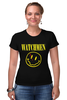 "Футболка Стрэйч ""Watchmen x Nirvana"" - смайл, nirvana, smile, хранители, watchmen"