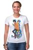 "Футболка Стрэйч (Женская) ""Nyan Cat & Tac Nayn T-shirt"" - cat, nyan, nyancat, tacnayn"