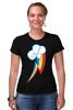 "Футболка Стрэйч ""Rainbow Dash cutie mark"" - pony, mlp, cutie mark, радуга дэш"