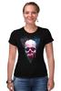 """Футболка Стрэйч (Женская) """"Вселенная"""" - skull, череп, космос, абстракция, вселенная"""