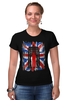 """Футболка Стрэйч (Женская) """"Доктор Кто"""" - doctor who, uk, доктор кто, британский флаг, тардис"""