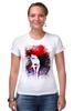"Футболка Стрэйч ""Marilyn Manson"" - портрет, акварель, менсон, marilyn, manson"