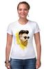 "Футболка Стрэйч ""Банановый бородач"" - хипстер, борода, banana, beard, hipster, банан"