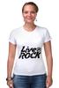 "Футболка Стрэйч ""LiveInRock"" - рок, rock"