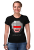 """Футболка Стрэйч (Женская) """"Robocop 8-bit"""" - робот, 8 бит, полицейский, робокоп"""